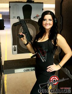 Gun Garage is the only range in Las Vegas where you can shoot an automatic MP7, so don't miss out when you're here! #MP7 #Automatic #GunGarage #Vegas