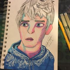 Love this fanart of Jack Frost from the movie Rise of the Guardians, by @discovering_the_galaxies with their Chameleon Pens.  #drawing #jackfrost #riseofthegardians #sketch #sketchbook #markers #chameleonpens #chameleonmarkers #markerdrawing #a#markerart