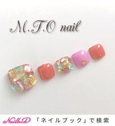 Pedicure Designs, Toe Nail Designs, Japan Nail Art, Feet Nail Design, Fingernails Painted, Cute Pedicures, Uñas Fashion, Happy Nails, Nail Art Videos