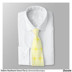Yellow Starburst Cross Tie