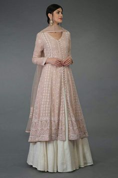 Lucknowi Anarkali Lehenga Suit - All About Clothes Indian Fashion Dresses, Indian Gowns Dresses, Dress Indian Style, Pakistani Dress Design, Pakistani Outfits, Ethnic Outfits, Indian Outfits, Trendy Outfits, Fashion Outfits