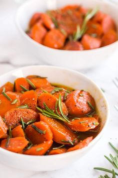 Rosemary Glazed Carrots Recipe (with Brown Sugar) | Kylee Cooks Glazed Carrots, Carrot Recipes, Garlic Butter, Dinner Rolls, Ratatouille, Brown Sugar, Lunch, Fresh, Cooking