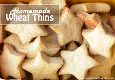 Healthy Finger Foods for toddlers (recipes for homemade wheat thins and goldfish)