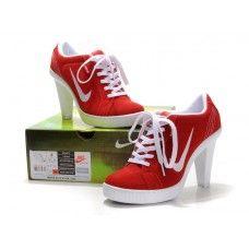 Femme Nike Air Max Heels Rouge/Blanc