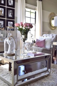 It's amazing that I can find a beautiful coffee table like this one from HomeGoods that not only looks expensive, but is extremely affordable! (Sponsored pin)