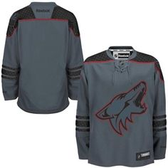 I want!!! Arizona Coyotes Reebok Cross Check Premier Jersey - Storm