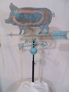 Copper Pig Weathervane Has Patina Finish with Free Roof Mount | eBay