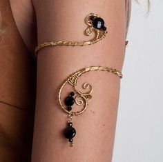 Onyx gift for women Upper arm cuff arm band spiral handmade made of brass and onyx gemstones Mother's Day Gift  tribal jewelry by energywire from Ecommmax. Find it now at http://ift.tt/2akm5Iu!