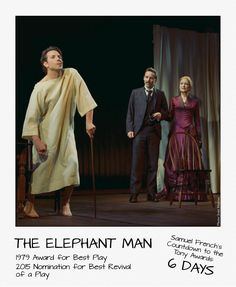 It's Tony Awards week - which means that we only have a few more titles left in our countdown! Today's feature is THE ELEPHANT MAN by Bernard Pomerance. How many of you saw this when it was revived on Broadway last year? #tonyawards #samuelfrench #elephantman