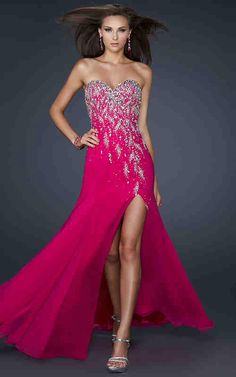 Hot pink prom dress!
