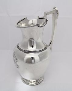 Shreve Stanwood & Co sterling silver water pitcher - Boston, Antique Silver, 925 Silver, Silver Rings, Sterling Silver, Home Temple, Silver Water, Precious Metals, Vase, Crystals