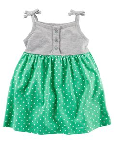 Baby Girl Polka Dot Jersey Dress | Carters.com
