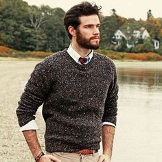 Love this casual menswear look for the office!