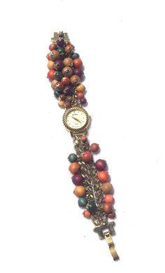 Vintage La Baron WOMENS Beaded Watch