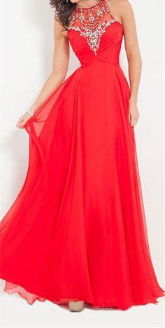 Red Prom Dresses,Long Evening Dresses