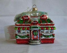 Coca Cola 1999 Polonaise Collection Kurt Adler Blown Glass Diner Ornament Poland