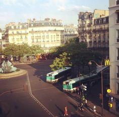 Place Gambetta, Paris. Can never escape McDonalds...
