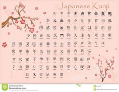 Japanese Kanji With Meanings. - Download From Over 45 Million High Quality Stock Photos, Images, Vectors. Sign up for FREE today. Image: 2341031