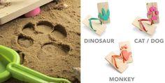 砂場に動物の足跡ができる子供用の下駄  (via http://www.thinkgeek.com/product/eeed/ )