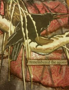 REMEMBERED Original Art Mixed Media Collage ACEO CROW Venecia OUTSIDER ART  #OutsiderArt