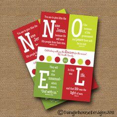 Christmas Card Printable Christmas Card DIY by bunglehousedesigns