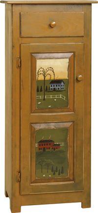 Just Primitive Furniture | Amish Furniture Kitchen Furniture Trash Bins Jelly Cabinets China ...
