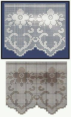 crochet, knitting, and poentles . Crochet Patterns Filet, Crochet Borders, Crochet Diagram, Crochet Motif, Crochet Designs, Crochet Doilies, Crochet Lace, Crochet Stitches, Cross Stitch Patterns