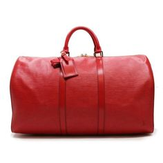 Louis Vuitton Keepall 50  Epi Luggage Red Leather M42967