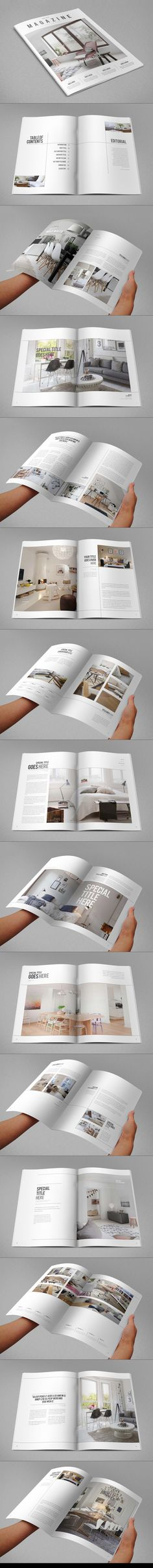 Minimal Interior Design Magazine. Download here: http://graphicriver.net/item/minimal-interior-design-magazine/9499179?ref=abradesign #magazine #template #design #editorial
