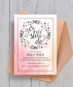 37 best wedding anniversary personalised invitations images in 2018