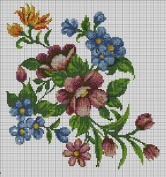 Cross Stitch Animals, Cross Stitch Flowers, Cross Stitching, Cross Stitch Embroidery, Cross Stitch Designs, Cross Stitch Patterns, Stitch 2, Sewing Clothes, Diy And Crafts