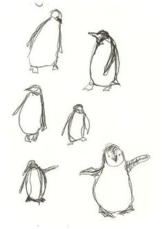i drew some penguins - Janet Clare Penguin Logo, Penguin Art, Animal Sketches, Animal Drawings, Pinguin Tattoo, Penguin Drawing, Penguin Illustration, Stitch Drawing, Freehand Machine Embroidery