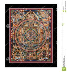 Antique Tibetan Tangka Royalty Free Stock Image - Image: 15829276