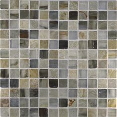 Buyi Slate 1 x 1 Honed Mosaic - White Gold Slate Honed and Sumi-e 1 x 1 Zushi Silk  by Stone & Pewter Accents on HomePortfolio
