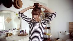 Easy Messy Bun With Bangs