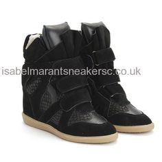 Best UK Isabel Marant Snake-effect Bazil Black Sneakers