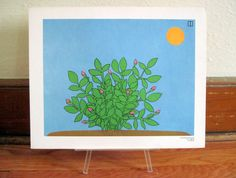 First Buds of Spring  1970s Sequence Poster   retro by cammoo