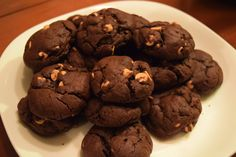 [Homemade] Dark Chocolate Peanut Butter Cookies #food #foodporn #recipe #cooking #recipes #foodie #healthy #cook #health #yummy #delicious