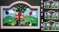 Pebble Art Happy Childs, Child gift, Stone Art, New home housewarming gift, Beach Stone Artwork, Unique Home Decor, Wall Art,Nature