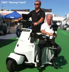 T3MT moving tripod, mounted on T3 electric vehicle