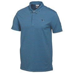 a69e8cd4 Puma Golf Mens Lux Yarn Dye Stripe Polo Shirt 2015 Features: Button-down  self