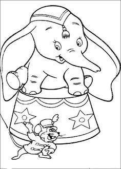 Fargelegging Dumbo. Tegninger 10