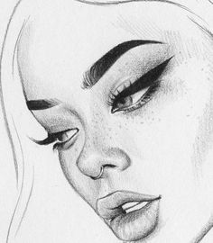 Pin by zoe loeffelholz on sketches in 2019 drawings, pencil drawings, art s Pencil Art Drawings, Art Drawings Sketches, Cute Drawings, Drawing Faces, Sketch Art, Simple Drawings, Face Sketch, Cartoon Drawings, Girl Pencil Drawing