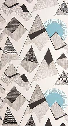 Retrokuosien ystävälle sopivat nämä MissPrint kuosit. Tapettitaivas tapetti. Quilts, Blanket, Abstract, Wallpaper, Artwork, Design, Comforters, Blankets, Work Of Art