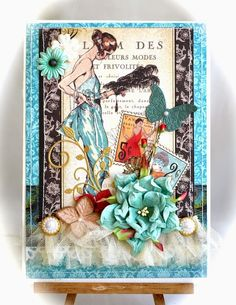 Вдохновение от дизайнеров: обзор коллекции Couture Graphic45 Paper Cards, Art Cards, Sky Design, Paper Artist, Artist Trading Cards, Vintage Tags, Cards For Friends, Graphic 45, Scrapbook Paper Crafts