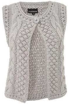 Knitted Boys and Girls Baby Sweater, Vest Cardigan Pattern Knit Vest Pattern, Sweater Knitting Patterns, Knitting Designs, Free Knitting, Mode Crochet, Knit Crochet, Knit Lace, Diy Crafts Knitting, How To Start Knitting
