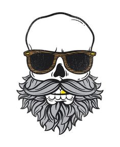 Bearded Skull Art Print by Ort Design Studio.