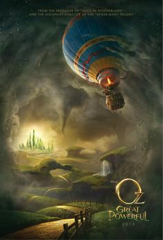 """Love the poster. Oz The Great and Powerful Coming Supposed to take place before """"The Wizard of Oz"""", when the Wizard was young and how he became the Wizard. Stars James Franco, Rachel Weisz, Mila Kunis and Michelle Williams. Animation, Image Internet, Land Of Oz, James Franco, Most Beautiful Images, Beautiful Gif, Illustration, Michelle Williams, Wow Art"""