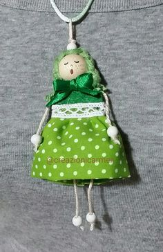 Collana bambolina di stoffa