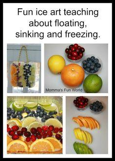 Momma's Fun World: Kids ice art science
